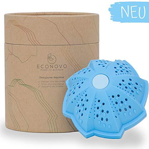 Econovo® Öko Waschball für die Waschmaschine (inkl. Netzbeutel), Bio Waschkugel zum Waschen ohne Waschmittel, umweltfreundliches Waschmittel, nachhaltige Produkte, ökologische Geschenke, BPA frei