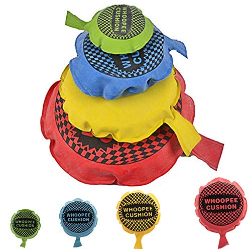 SIMUER 4 PCS Whoopee Cushion Self Inflating Joke Farting Toy Ideal Joke Gift or Stock Filler Random Color