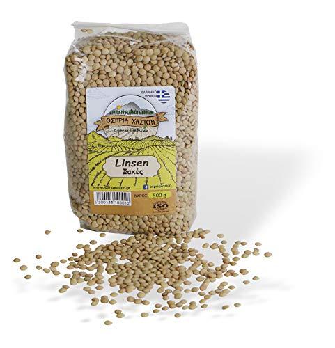 Griechische Linsen getrocknet für Linsensuppe | Eintopf | Linsensalat | 500 g fein Hülsenfrüchte | ARISTOS