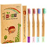 Kids Toothbrushes, Biodegradable Bamboo Toothbrush, Toddler Toothbrush BPA Free Eco-Friendly Natural Organic Soft Bristles Bamboo Toothbrush for Kids Toddlers Boys Girls Age 2-10 Years, 4 Pack
