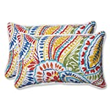 "Pillow Perfect 572581 Outdoor/Indoor Ummi Lumbar Pillows, 11.5"" x 18.5"", Multicolored rocking Oct, 2020"