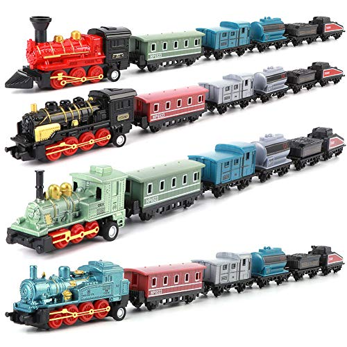 Trains Toy | Mini Trains Toy, Pull Back Trains Model Set, for Gifts Rewards,Best Christmas Gift for Boys Girls and Friends,Easy Operation