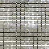 Mosaico sobre red de gres porcelánico de cerámica, fabricado en Italia – I Gioielli 93 verde