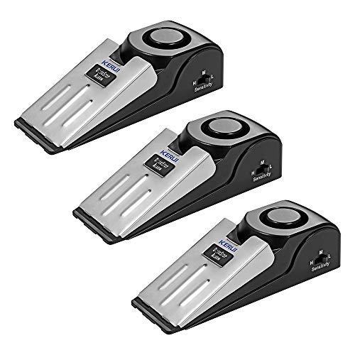 KERUI Alarmkeil mit 120 dB Alarm für Türen, rutschfeste Unterseite, Mechanischer Einbruchschutz, Türkeil, Türstopper mit Alarmfunktion