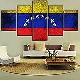 JNXFUZMG 5 Stück Flagge von Venezuela Wohnkultur Wandkunst
