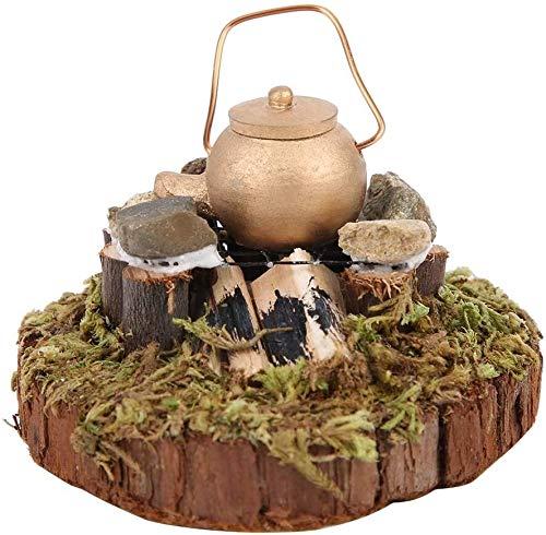Miniatur-Puppenhaus-Gartenszene-Zubehör, dekorative simulierte batteriebetriebene Miniatur-Fairy-Garten-Dekoration, exquisite Erwachsene-Sammlung für Kindergeschenke (Nozuma) YMIK ( Color : Nozuma )