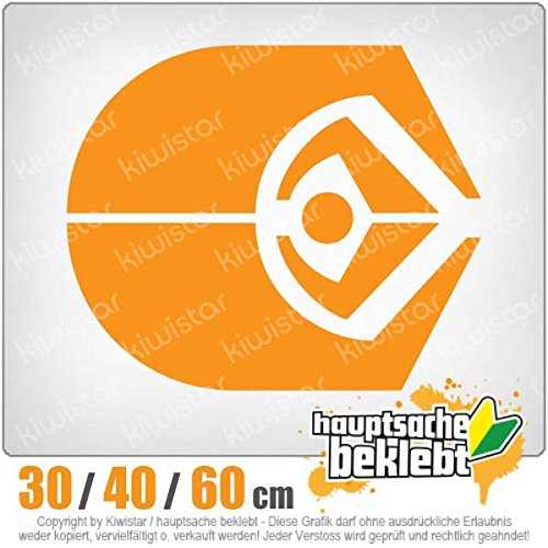 Ferengie-disponible en 3 tailles carsticker decal autocollant pour lunette arrière, orange-35, 30 x 7 cm