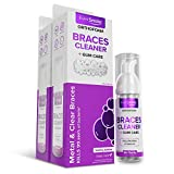 OrthoFoam Braces Cleaner - Cleans Under Metal, Ceramic or Clear Brackets & Wires. Brush or Rinse with & Use in Trays. Foaming Bubbles Whiten Teeth & Fight Plaque (Packaging May Vary) (2 Pack - 50 ml)