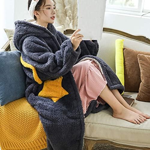 Manta acogedora con mangas, manta portátil con capucha, muy suave y cálida, manta con capucha de forro polar con mangas gruesas para mujeres y hombres, cómodas mantas mullidas para el hogar (color 4; tamaño: