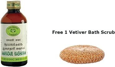 Amavatari Kashayam by Arya Vaidya Nilayam (AVN) 450 ml + Free 1 Vetiver Scrub