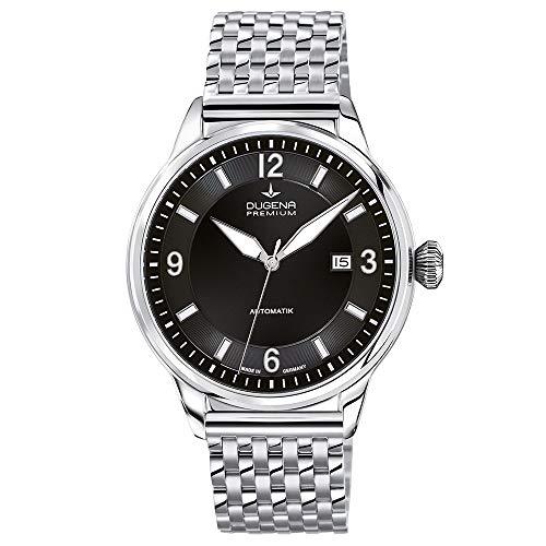 Dugena Herren Automatik-Armbanduhr, Saphirglas, Uhrwerk mit 24 Steinen, Kappa 1, Silber/Schwarz, 7090300