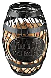 Wine Enthusiast 'Wine A Little' Wine Barrel Cork Catcher, Bronze