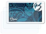 Bruni Schutzfolie kompatibel mit Trekstor SurfTab Breeze 10.1 Quad Folie, glasklare Bildschirmschutzfolie (2X)