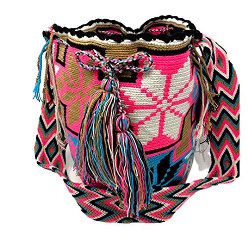 Wayuu Mochila Tasche, ethnisch, gehäkelt, handgefertigt, aus Kolumbien