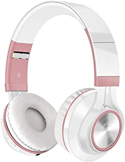 Gaming Headset Wireless Bluetooth Headphones Over Ear,Wired Or Wireless Option,for Phone, PC & TV,Subwoofer,Radio Gift Headset (Color : Pink)