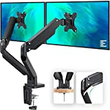 EleTab Dual Monitor Mount Stand - Height Adjustable Monitor Arm Stand Fully Articulating...