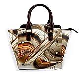 IUBBKI bolso de mano de playa con forma de estrella de mar, bolso de mano de cuero genuino con remaches, asa superior para mujer