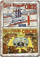 シールスターリングサーカスティンサイン壁の装飾金属ポスターレトロプラーク警告サインオフィスカフェクラブバーの工芸品