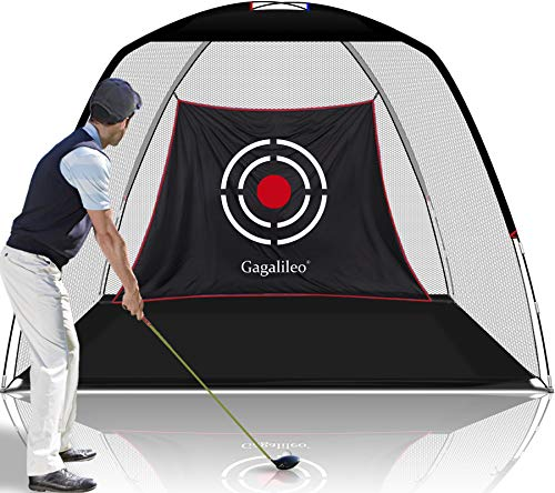 Gagalileo Golf Nets for Backyard Driving Golf Practice Net Golf Net for Indoor Use Golf Hitting Nets 10'X7'X6'Home Driving Range with Target and Carry Bag (Pro White)