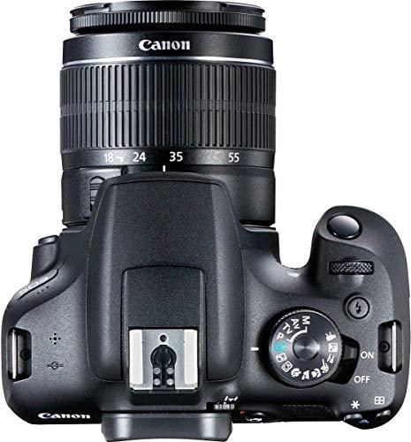 Canon EOS 2000D Spiegelreflexkamera - mit Objektiv EF-S 18-55 F3.5-5.6 III (24,1 MP, DIGIC 4+, 7,5 cm (3.0 Zoll) LCD, Display, Full-HD, WIFI, APS-C CMOS-Sensor), schwarz