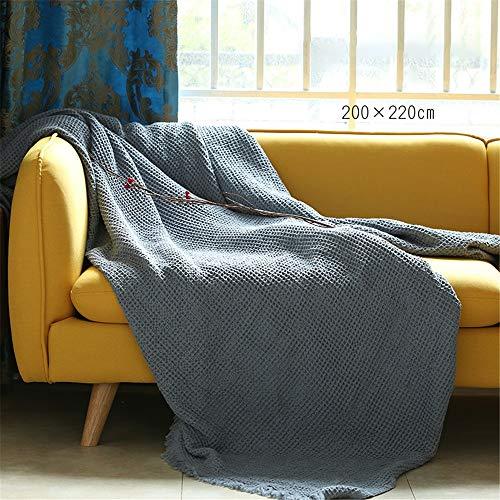 Madeinely Dekbed, katoen, wafel-geweven deken, kerstdecoratie, perfect voor bed, woonkamer, slaapkamer