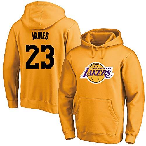 Jersey de baloncesto para hombre, Lakers No. 23 James, jersey de felpa, 123, amarillo, XL