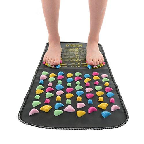 fuhaoo Massage Réflexologie Walking Stone Soulage la Douleur Pied Jambe Health Care Mat d'acupression