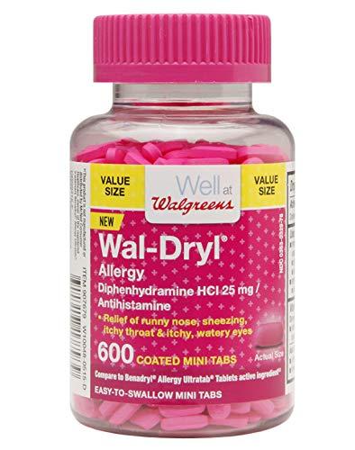 Walgreens Wal-Dryl Allergy Mini-Tabs, 600 ea