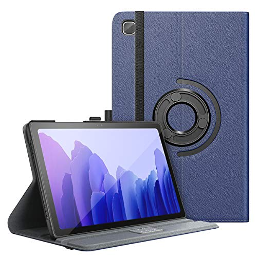 MoKo Case Compatible with Samsung Galaxy Tab A7 10.4 Inch Model (SM-T500/505/507), Full-Body Hard Back Cover 90 Degree Rotating Adjustable Stand Cover Case with Auto Wake/Sleep Function, Indigo