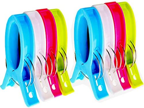 Jumbo Beach Towel Clips Chair Clips Towel Holder for Pool Chairs on Cruise Plastic Clothes Quilt product image