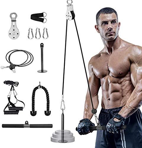 YYXT Poleas Gimnasio para Casa, Brazo, bíceps, tríceps, bláster, Cable Atado de muñeca, Roller, Agarre, Mano, Fuerza y Entrenamiento Equipo para el Fitness