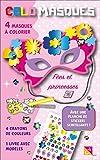 Colomasques fées et princesses : Avec 4 masques à colorier, 4 crayons de couleur, 1 livre avec modèles, 1 planche de stickers scintillants