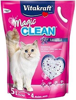 Magic Clean Litière pour Chat Lavande 5 l