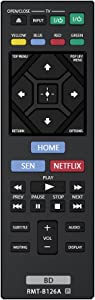 Gvirtue Replacement Lost Remote RMT-B126A For Sony Blu-Ray Player BDP-BX120, BDP-BX320, BDP-BX520, BDP-BX620, BDP-S1200, BDP-S2200, BDP-S3200, BDP-S5200, BDP-S5200/D, BDP-S6200, BDP-S2100 etc