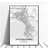 NRRTBWDHL Thessaloniki Athen Fira Griechenland Leinwand