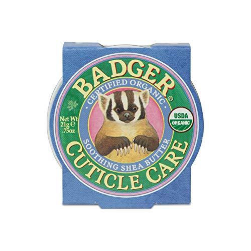 Badger - Cuticle Care, Soothing Shea Butter Cuticle Balm, Certified Organic, Nourish and Protect Cuticles and Nails, Fingernail Care, Protect Dry Splitting Cuticles, 0.75 oz.