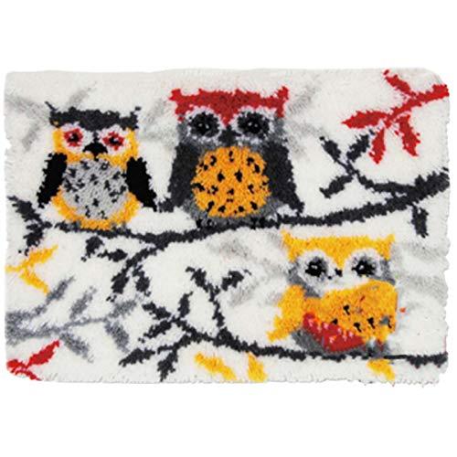 WYOUTDOOR Kits De Hilo De Crochet De Bricolaje, Kit De Gancho Pestillo Costura con Ganchillo Inacabado Hilado Hilado De Hilo Hilado Bordado Set De Alfombras (Pájaro, 52 * 38Cm / 20.5'X15)