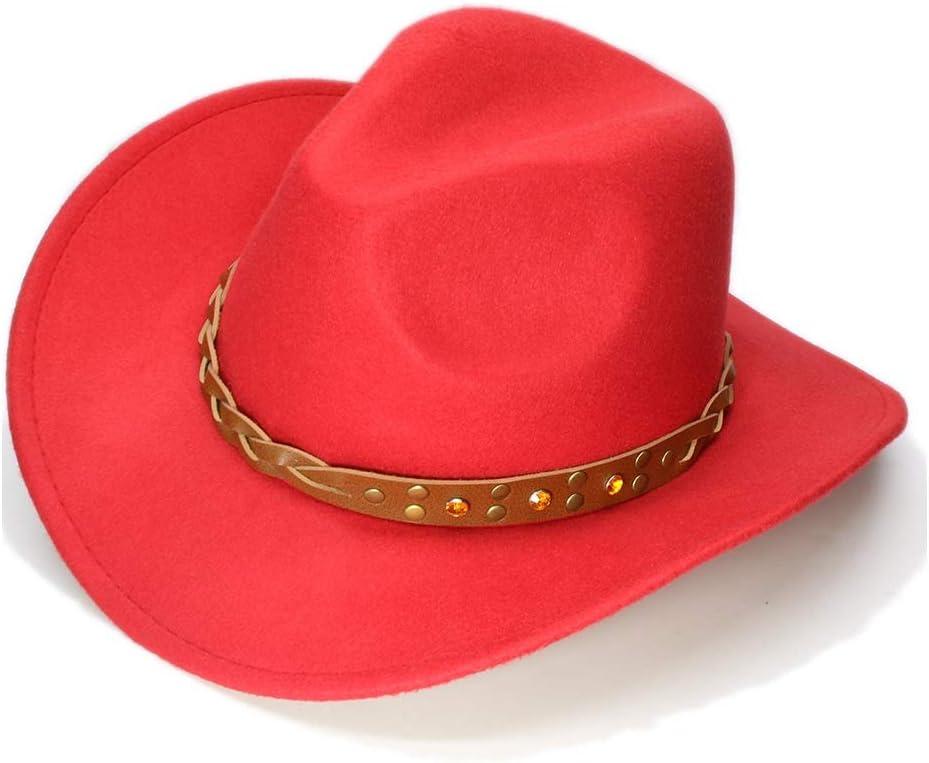 Western Cowboy Doux MMD-womens hat La Mode Chapeau de d/ôme pour Enfants