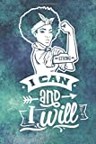 I Can and I Will: Pin Up Girl Notebook | Motivational journal for women with prompts | Special birth...