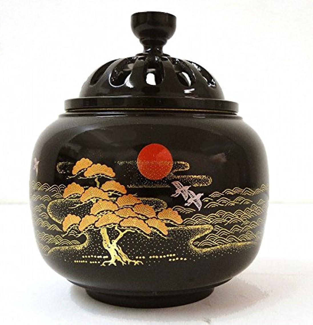 気絶させるシネウィ隣接する『玉胴型香炉?日ノ出松蒔絵』銅製