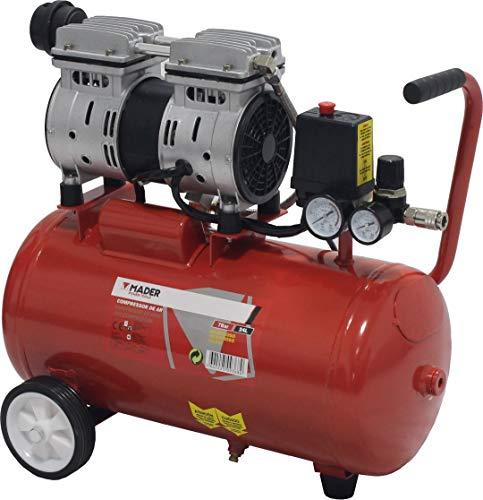 MADER POWER TOOLS - Compresor de Aire (sin aceite) 24L 0.75HP - silencioso - ecologico - economico