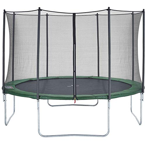CZON SPORTS Trampoline, 14ft Outdoor with safety enclosure net, green
