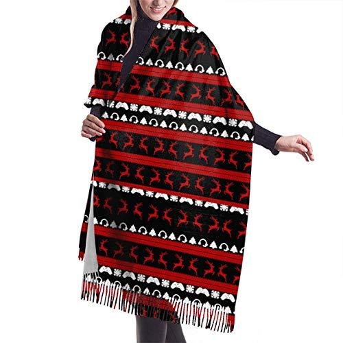 Asekngvo Navidad nieve reno mujer señoras bufanda larga invierno/otoño Pashmina chales abrigos