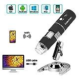 Koolertron Wireless WiFi Digital USB Microscope,Portable USB Digital Microscope Camera with 1000x Magnification