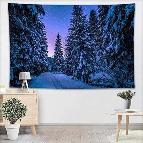 Cielo estrellado tapiz tapiz tapiz bosque tapiz edredón Yoga Mat manta cama mantel