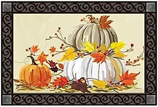 Studio M Neutral Pumpkins MatMates Fall Harvest Doormat
