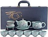 Simple juego de té chino hecho a mano y práctico, tetera, tetera saludable, exquisito regalo de negocios, fácil de usar,...