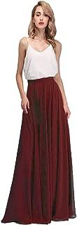 Best cream chiffon pleated skirt Reviews
