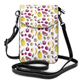 XCNGG bolso del teléfono Watercolor Fruits Cell Phone Purse Crossbody Bag Pouch Shoulder Bags Wallet For Women Girls Travel Wedding