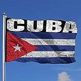 384 Bandera De La Casa Cuba País Vintage Bandera Nacional Cubana Durable DIY...